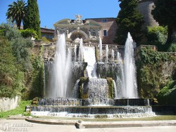 az Orgona-kút a Villa d'Este parkjában