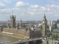a Parlament és a Big Ben a London Eye-ból