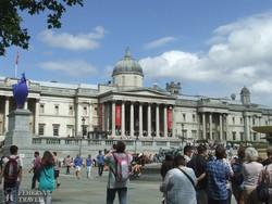 a Nemzeti Galéria impozáns épülete a Trafalgar téren