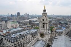 panoráma Londonra a Szent Pál-székesegyház kupolájából