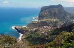kilátópont Kelet-Madeirán, Faial közelében