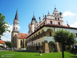a lőcsei városháza és a Szent Jakab-templom