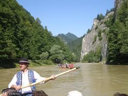 tutajozás a Dunajec folyó szurdokvölgyében
