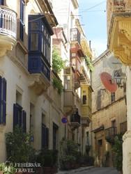 Valletta – jellegzetes utcarészlet