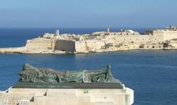 kilátás a Ricasoli-erődre Vallettából