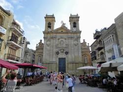 Victoria: a Szent György-plébániatemplom Gozo szigetén