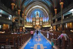 Montreal: a Notre-Dame belső tere