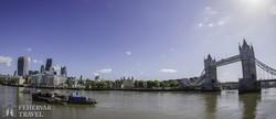 panoráma a Temzén, a City-től Tower-hídig