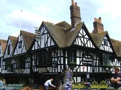 késő középkori favázas házak Canterburyben