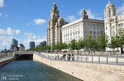 Liverpool – a régi városrész a Mersey folyó partján