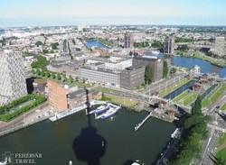 Rotterdam: kilátás az Euromast toronyból