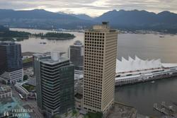 Vancouver: panoráma az egyik felhőkarcolóról