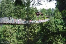 a Capilano függőhíd Vancouver mellett