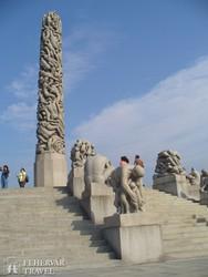 a lenyűgöző szoborpark Vigeland alkotásaiból Oslóban – részlet