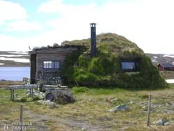 lapp kunyhó a Hardanger-fennsíkon