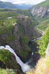 Norvégia leghíresebb vízesése, a Vöringfoss