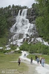 a látványos Twindefoss-vízesés Norvégiában