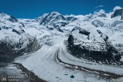 gleccser a Gornergrat sziklagerincénél