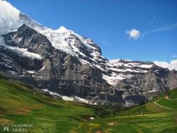a Jungfrau a Kleine Scheidegg felől