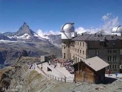 pillantás a Gornergratról a Matterhornra