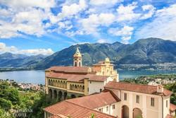 Locarno: a Madonna del Sasso kolostor a Maggiore-tó felett