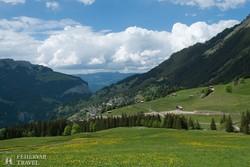 kilátás a Jungfrau-fogaskerekűről