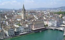 Zürich belvárosa madártávlatból