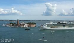 pillantás a velencei lagúnára és a San Giorgio Maggiore-szigetre