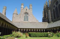 Mont-Saint-Michel – az apátság kerengője