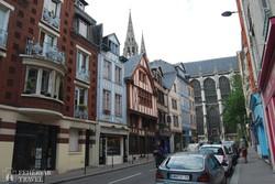 favázas házak Rouen óvárosában