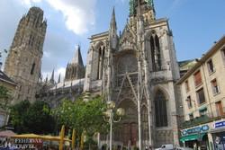 Rouen – a katedrális déli kapuja