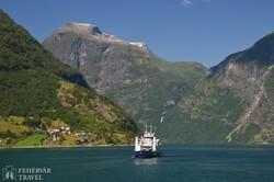 hajózás a Geiranger-fjordon