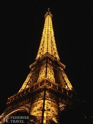 az Eiffel-torony fényei