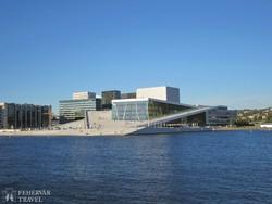 az oslói operaház modern épülete