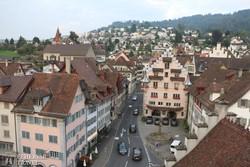 Zug gyönyörű óvárosa a várostoronyból