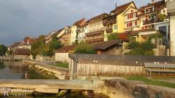 Zug városa a tó felől