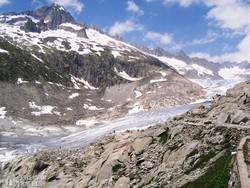 a Rhône-gleccser