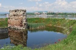 a római kori Trajanus híd maradványai Kladovónál