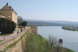 panoráma a Dunára a Péterváradi erődből