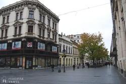 hangulatos sétálóutca Belgrádban