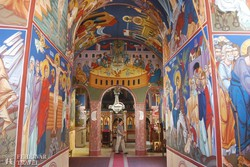 belső freskórészletek az egyik Fruška Gora-i kolostorban