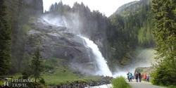 a Krimmli-vízesés alsó része