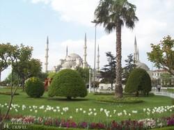 az isztambuli Kék Mecset a hat minaretjével