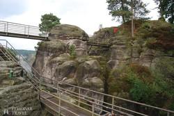 Bastei – útban a középkori sziklavárhoz