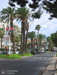 Cannes: a Croisette sétány – részlet