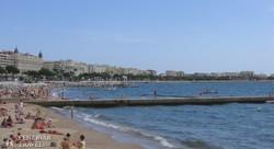 a Croisette menti szabadstrand Cannes-ban