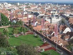 Graz látképe a Schlossbergről (a Várhegyről)