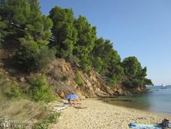 gyönyörű strand Szkiathosz szigetén