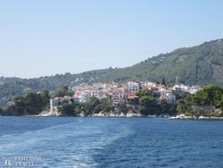 Szkiathosz fővárosa a hajóról