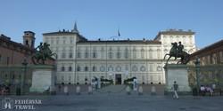 Torino: a Királyi Palota homlokzata